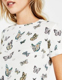 Butterfly Print T-shirt from Bershka