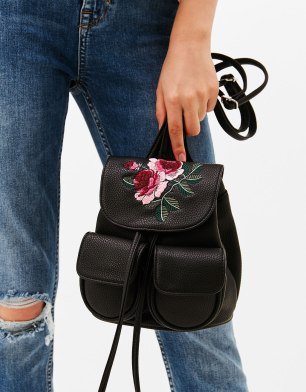 Floral Backpack from Bershka