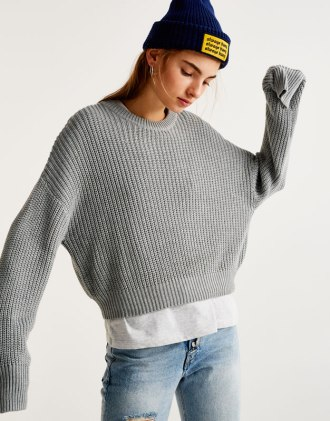 Grey Sweater from Pull & Bear